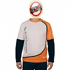 Hertz White/Orange Long Sleeve T-Shirt  L